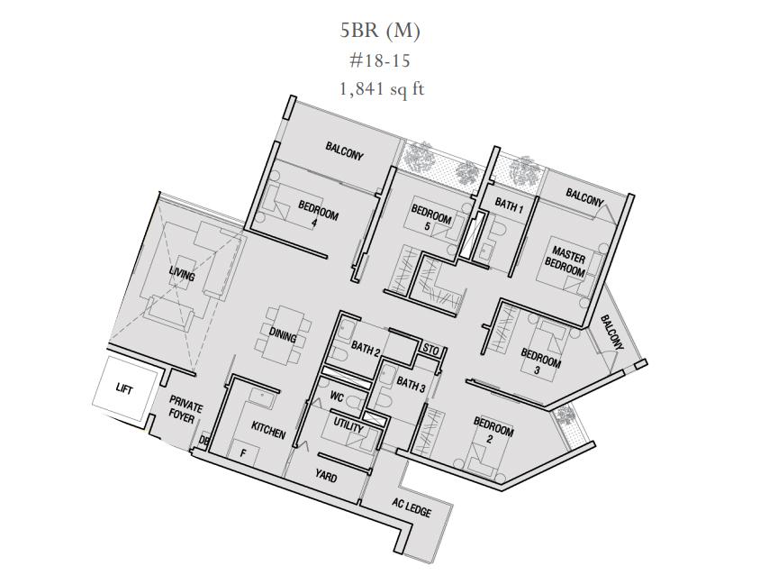 The Crest Typical Units Mix Floor Plans